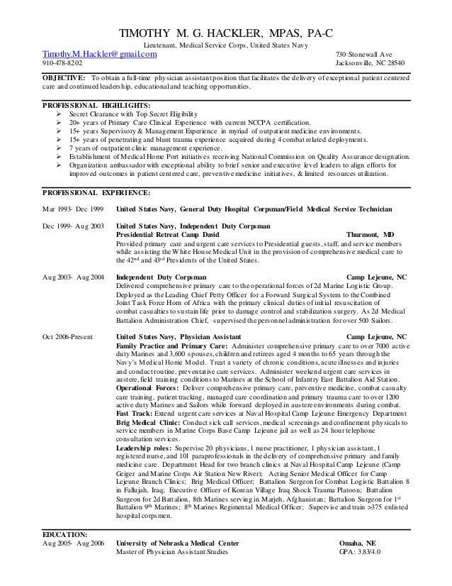 timothy hackler resume