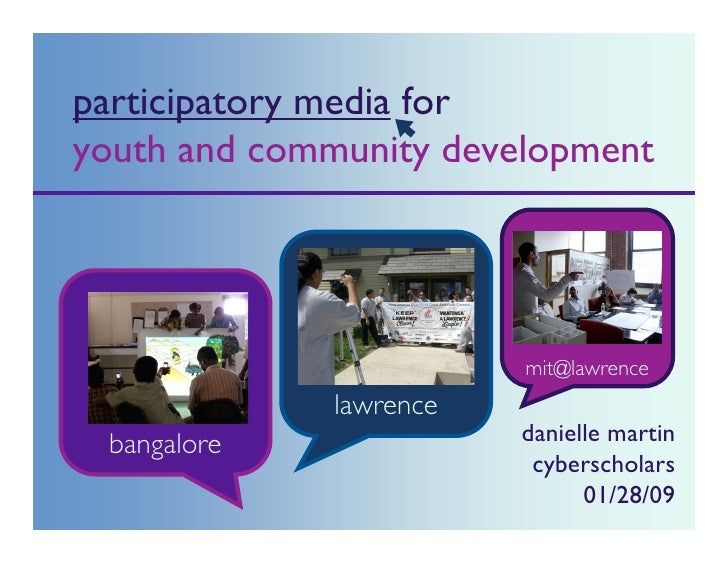 participatory media for youth and community development                                           QuickTimeª and a        ...