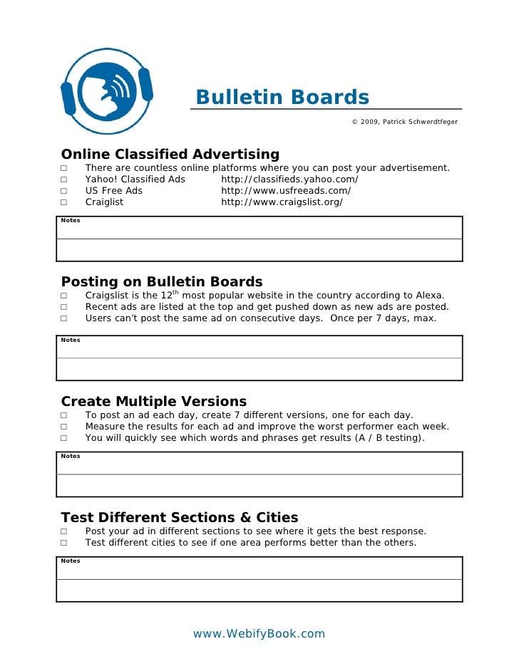 C55 bulletin boards craigslist worksheet