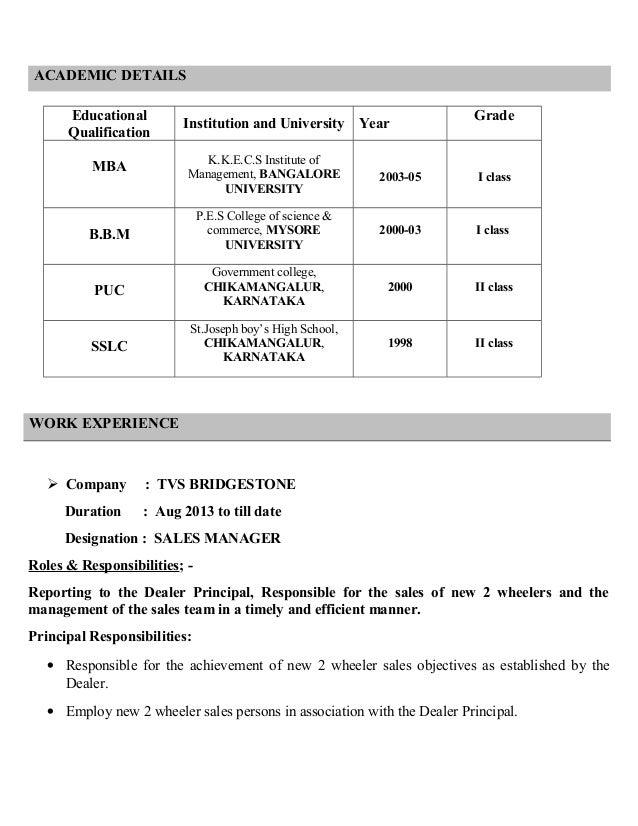 Academic Qualification In Resume Resume Ideas