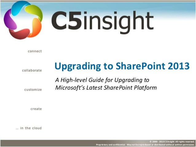 High-level Guide: Upgrading to SharePoint 2013