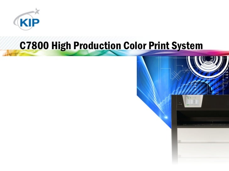 C7800 High Production Color Print System