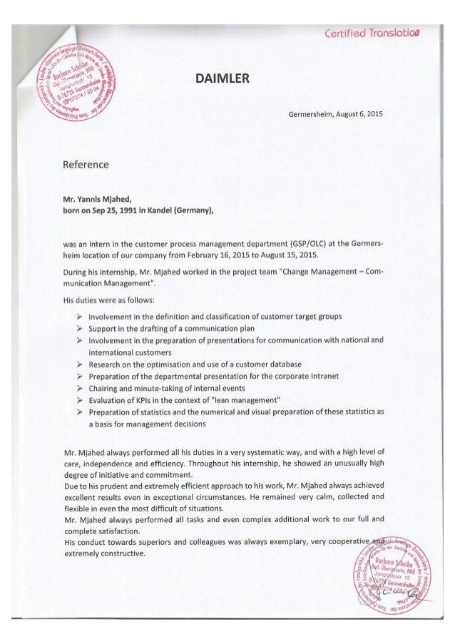 Reference Daimler AG