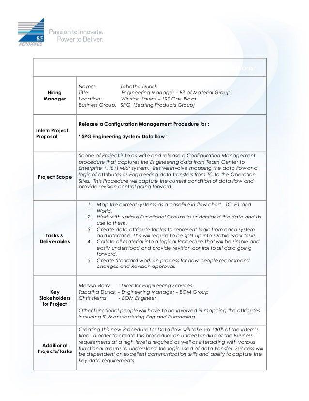 internship form template