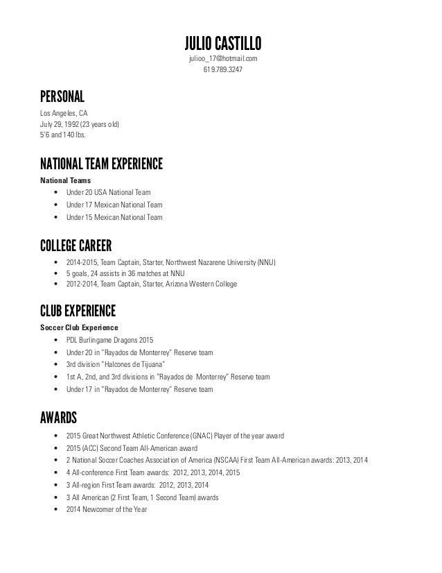 Coaching ...  Soccer Coaching Resume