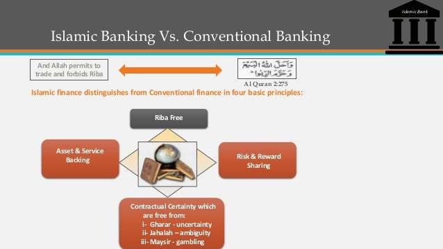 conventional bank and islamic bank Definition conventional banking islamic banking vs conventional banking in most islamic countries, they tend to practice two types of financing in banking industry which are conventional and islamic banking.