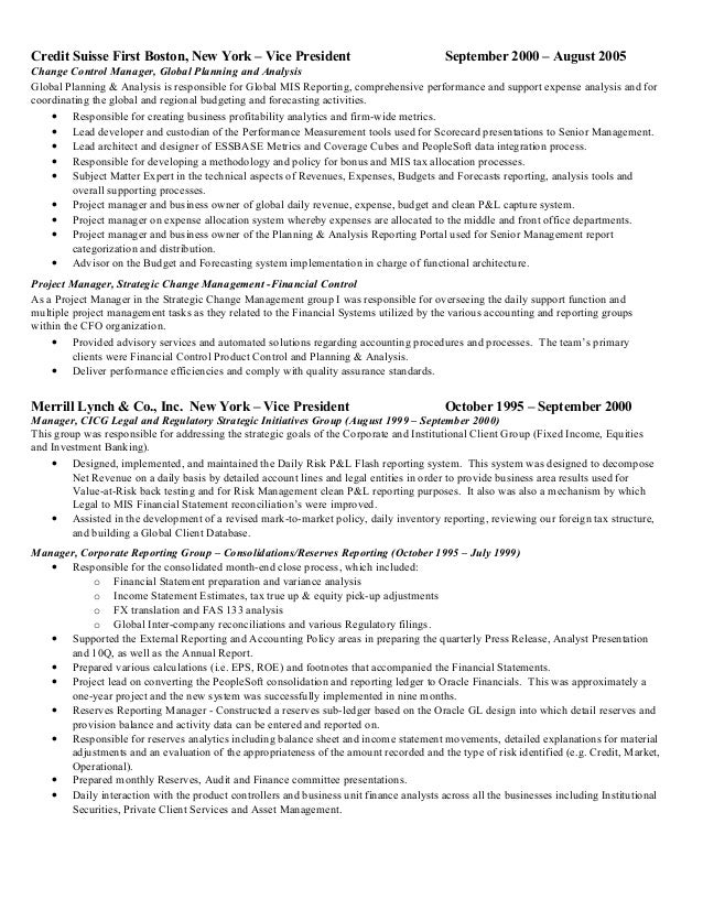 Divisional controller resume