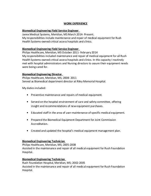 Sample Biomedical Engineer Resume Free Documents Download In Word JFC CZ As  Medical Field Resume