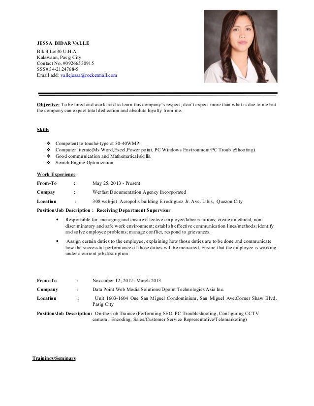 how to present a resumes