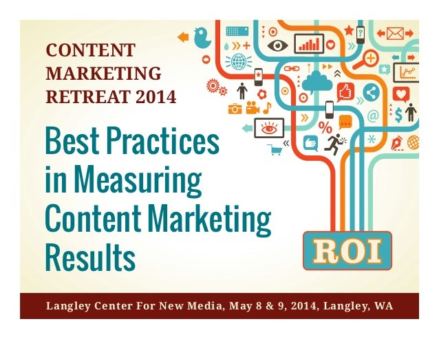 Best	   Prac*ces	   in	   Measuring	    Content	   Marke*ng	   Results	    The	   Top	   10	   Ac*vi*es	   You	   Need	   ...