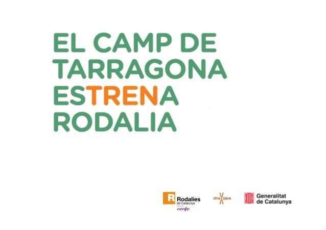 Servei de rodalia del Camp de Tarragona Estat actual