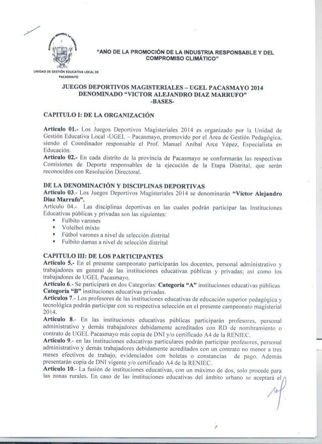 """""""ANO DE LA PROMOCIÓN DE LA INDUSTRIA RESPONSABLE Y DEL COMPROMISO CLIMÁTICO""""     UNIDAD DE GESTIÓN EDUCATIVA LOCAL DE PACA..."""