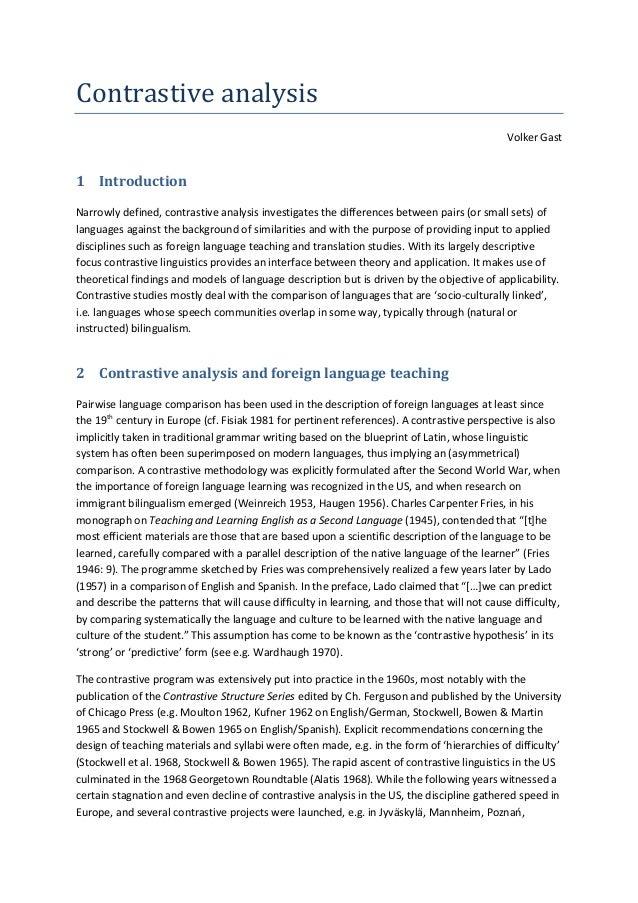 Conrastive Analysis (Hassans Edu)