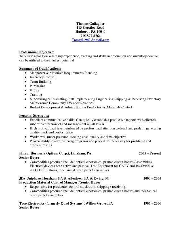 gallagher thomas resume
