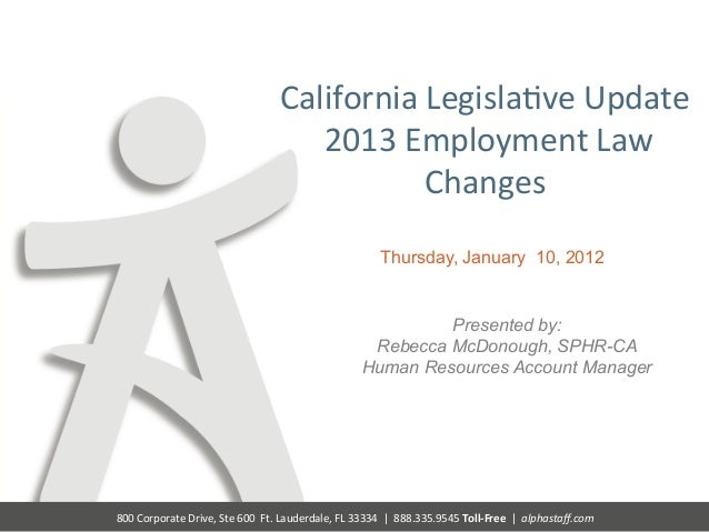 New CA Laws and Regulations Compliance Overview