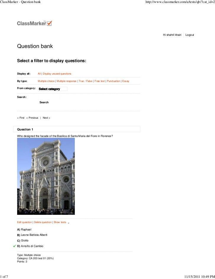 ClassMarker - Question bank                                                                                         http:/...