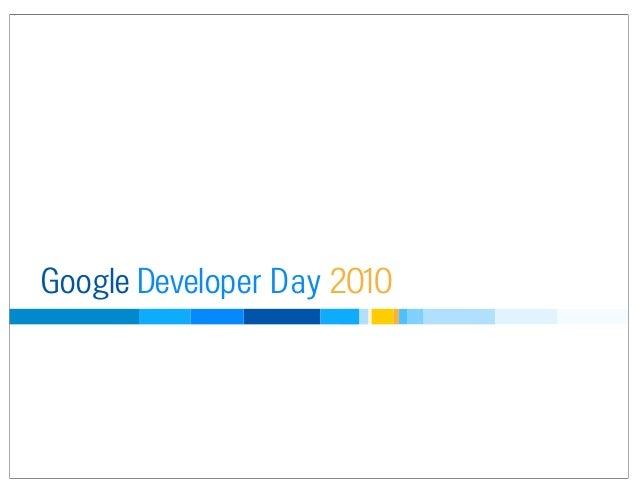 Google Developer Day 2010 Japan: 新 SocialWeb: 全てはオープンスタンダードの元に (ティモシー ジョーダン)