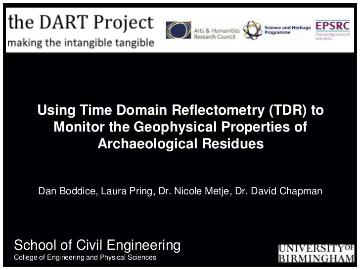 Using Time Domain Reflectometry (TDR) to         Monitor the Geophysical Properties of               Archaeological Residu...