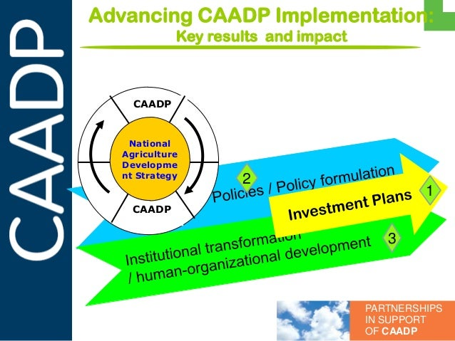 Advancing CAADP Implementation:  Key results  and impact