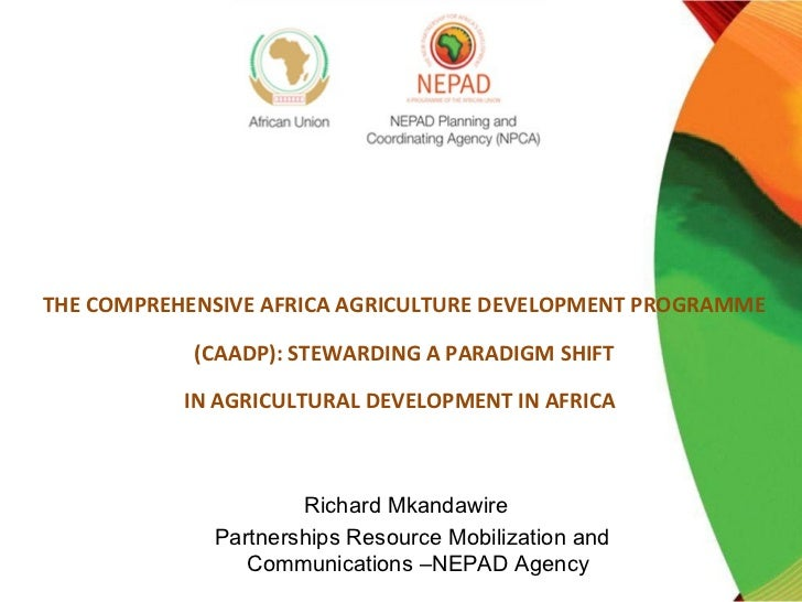 THE COMPREHENSIVE AFRICA AGRICULTURE DEVELOPMENT PROGRAMME            (CAADP): STEWARDING A PARADIGM SHIFT           IN AG...