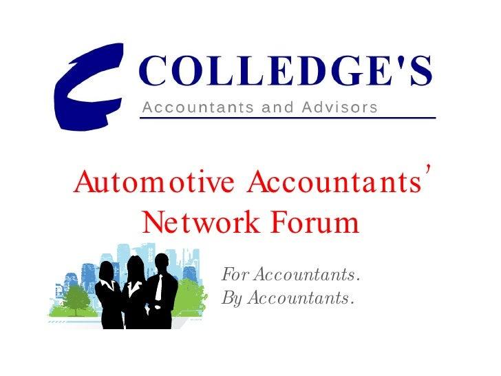 28 July 2009 Automotive Accountants' Forum