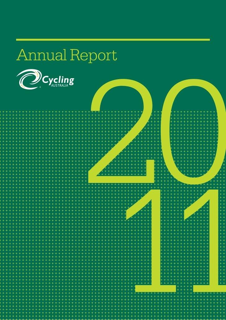 2011 Cycling Australia Annual Report