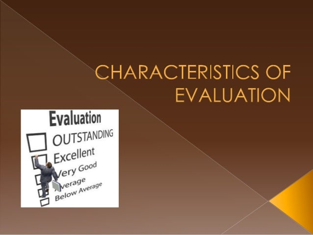 Caballes  characteristics of evaluation