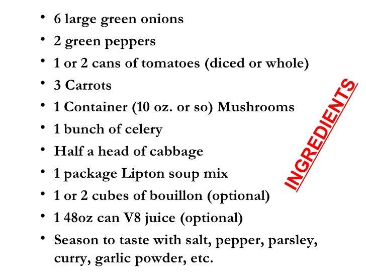 Cabbage Soup Diet Best Recipe