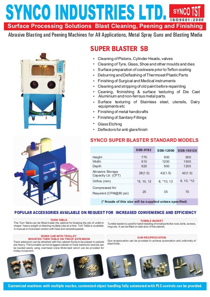 SYNCO INDUSTRIES LTD.Surface Processing Solutions Blast Cleaning, Peening and Finishing                                   ...