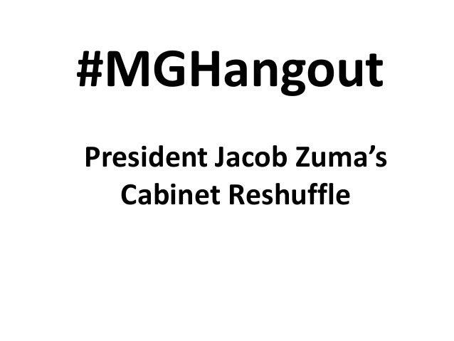 Zuma's Cabinet reshuffle pics