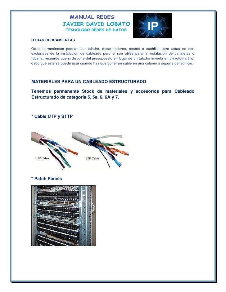 El cableado estructurado de una red tipo de cableado for Manual de compras de un restaurante pdf