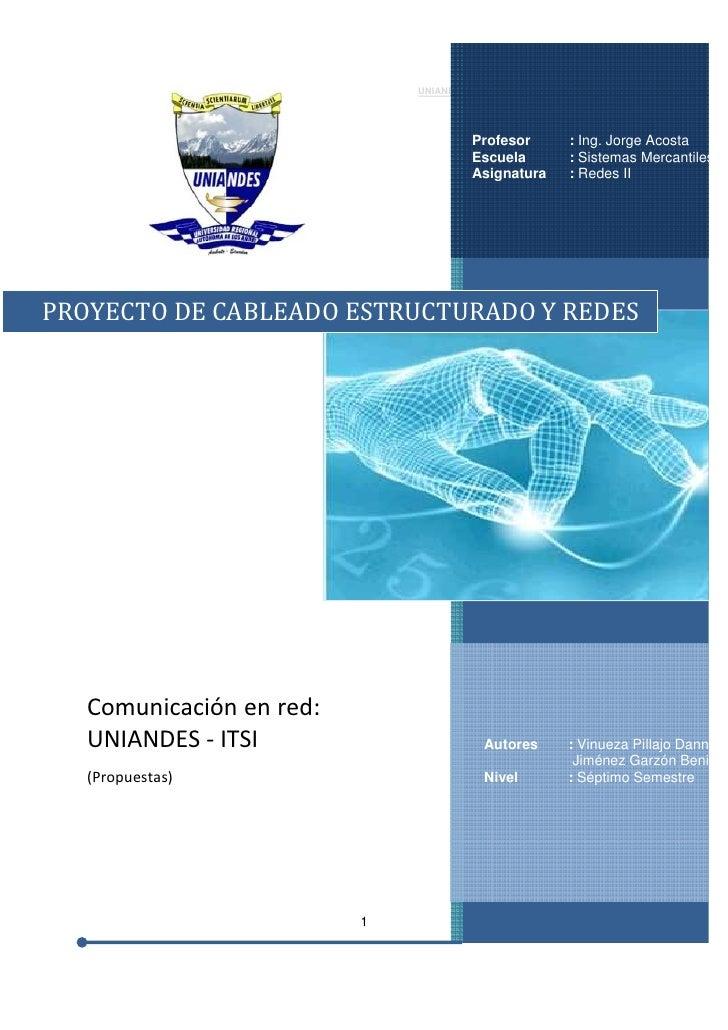 UNIANDES                  REDES II                                              Profesor     : Ing. Jorge Acosta          ...