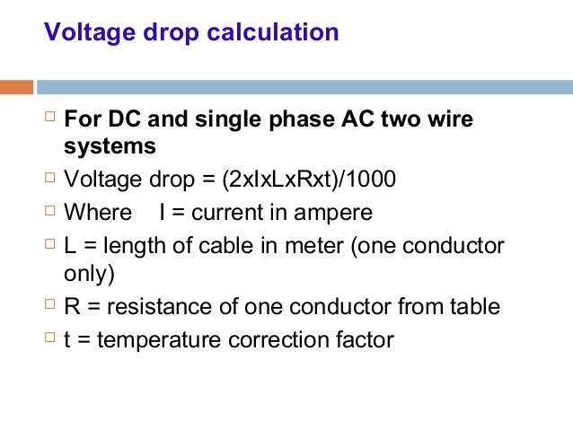 Voltage drop formula