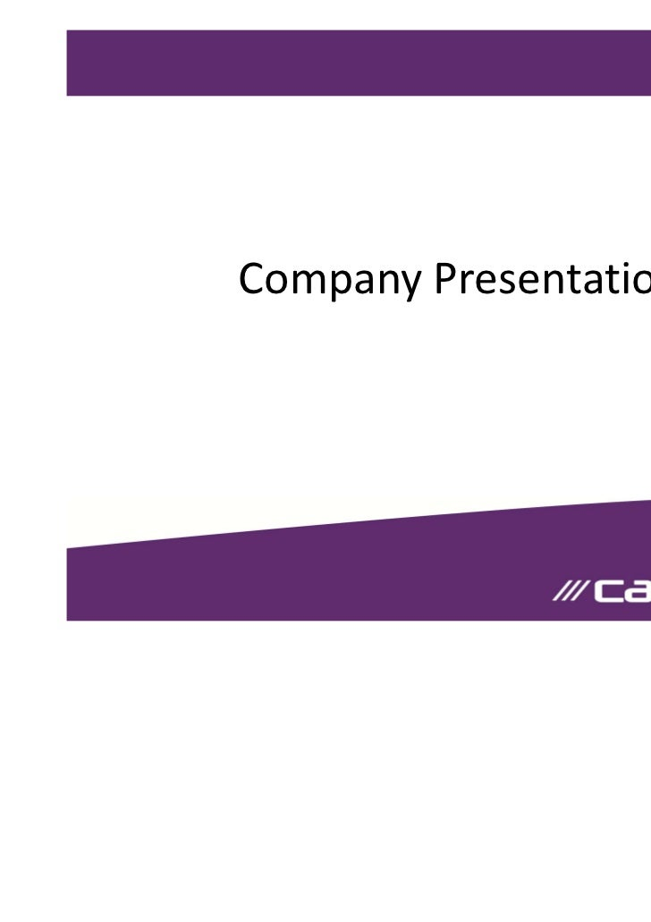 Cablenet Company Presentation