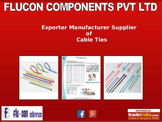 Nylon Cable Ties Exporter, Manufacturer, FLUCON COMPONENTS