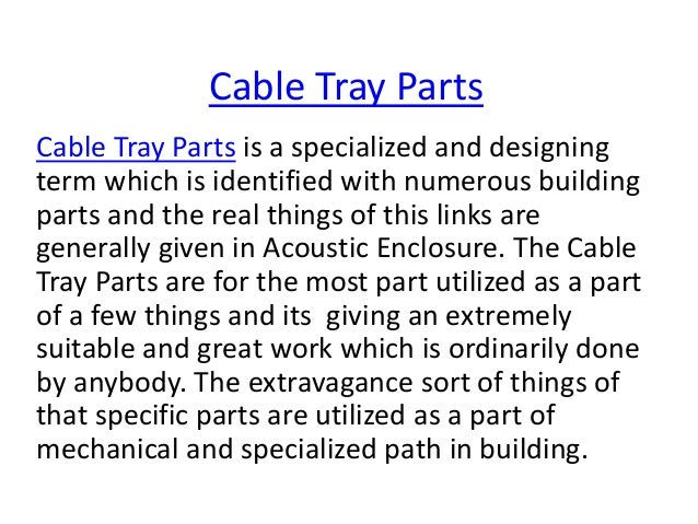 Cable Tray With Cable Cable Tray Parts Cable Tray