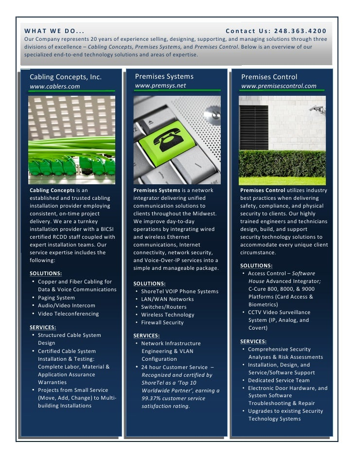 Technology Company; One-Page Overview