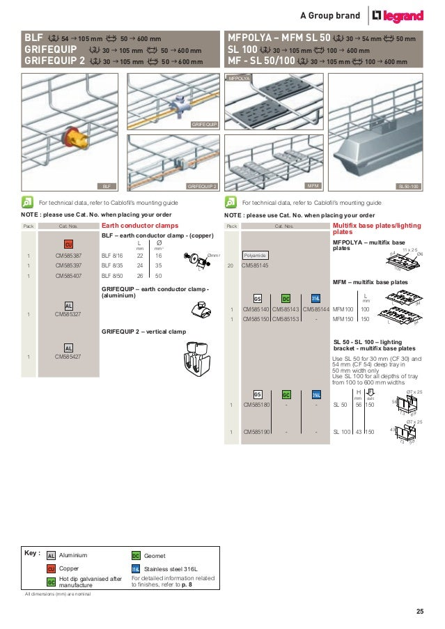 Cablofil Steel Wire Cable Tray Product Catalogue
