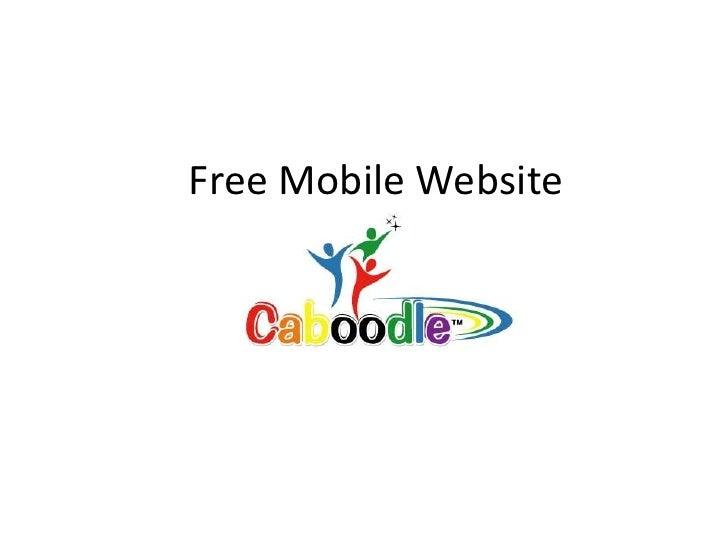 Free Mobile Website<br />