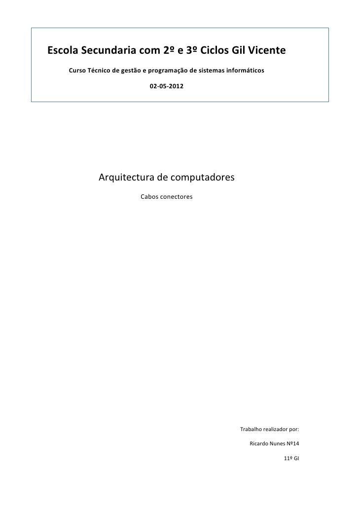 Escola Secundaria com 2º e 3º Ciclos Gil Vicente    Curso Técnico de gestão e programação de sistemas informáticos        ...