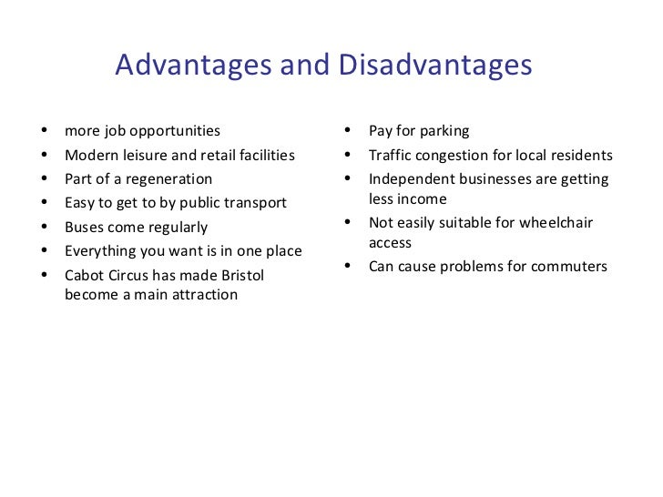 disadvantages of public transport Public transportation: advantages and challenges robyn r m gershon  these references are in pubmed this may not be the complete list of references from this article 1 2002 national transit database  us department of transportation federal transit administration public transit pays large dividends.