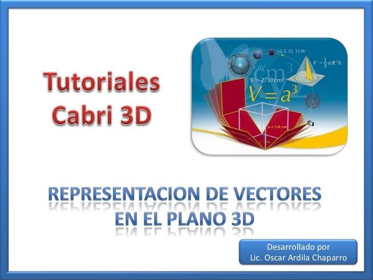Representacion de vectoresen el plano 3D