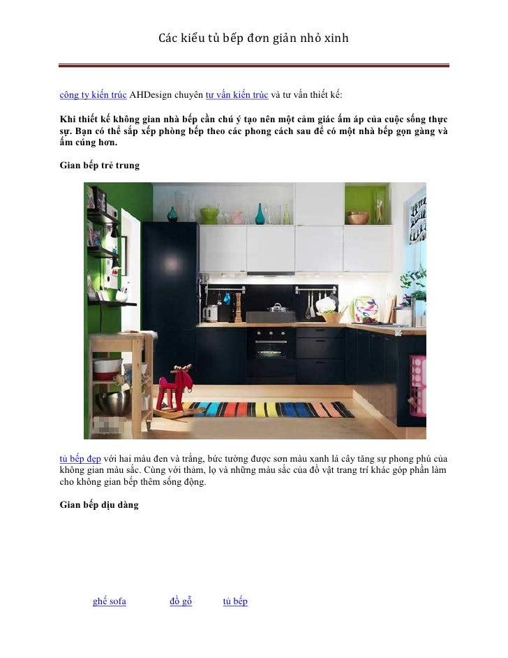 Các kiểu tủ bếp đơn giản nhỏ xinhcông ty kiến trúc AHDesign chuyên tư vấn kiến trúc và tư vấn thiết kế:Khi thiết kế không ...