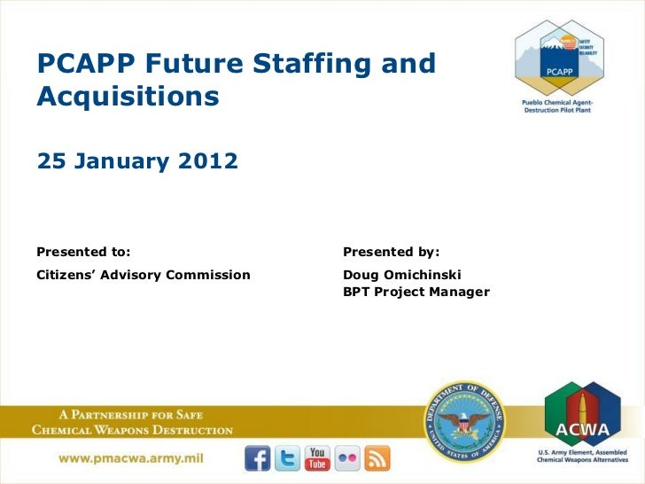 PCAPP Future Staffing andAcquisitions25 January 2012Presented to:                   Presented by:Citizens' Advisory Commis...