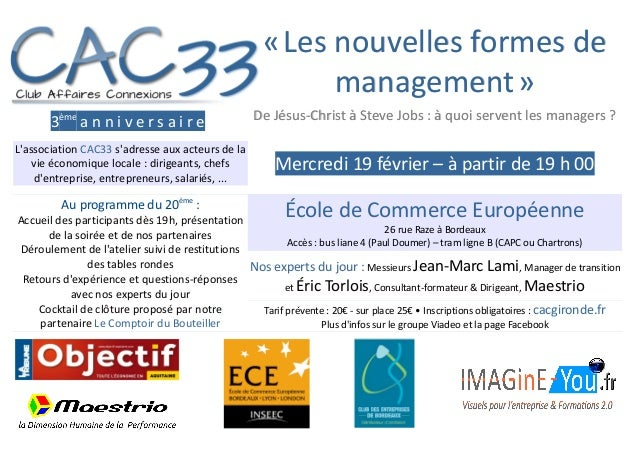 """Atelier Anniversaire """"Les nouvelles formes de management"""""""