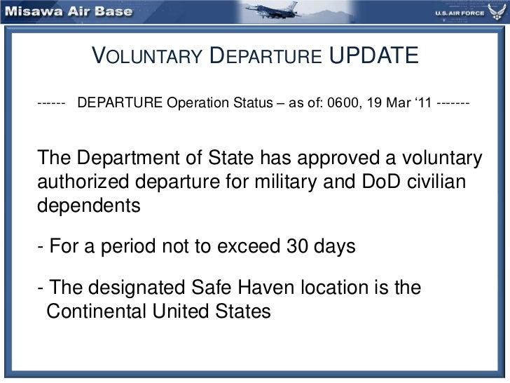 Misawa Air Base Voluntary Departure Processing Information