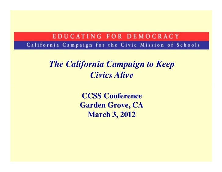 CA Campaign for the Civic Mission of Schools