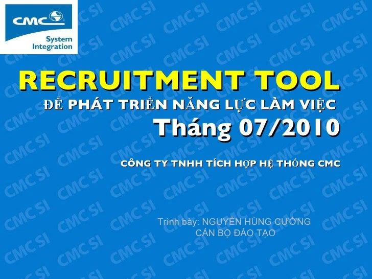 Cac Cong Cu Tuyen Dung
