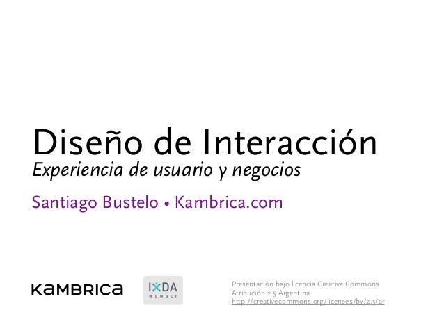 Experiencia de usuario y negocios - CACE 2011 01 25