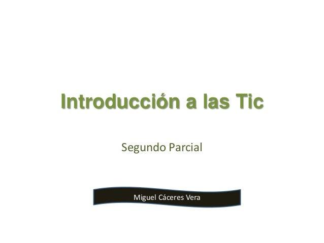 Introducción a las Tic Segundo Parcial Miguel Cáceres Vera